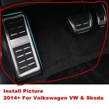 2014+ AT MT Car Foot Pedals For Volkswagen Golf 7 VII MK7 Passat VIII Skoda Octavia A7 Karoq Rapid Audi A3 8V Seat Leon