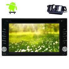 Camera is included+Android 6.0 2din Car DVD Player Car DVD GPS radio Stereo In Dash Navigation Vehicle GPS Headunit Radio WiFi