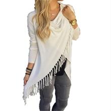 Casual Long Sleeve Loose Tassel Dress