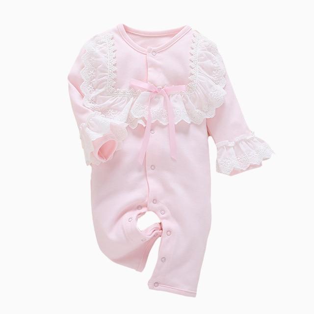 53d0b0b49dbe Baby Romper Sweet Princess Long Sleeve Lace Designer Newborn Spring ...