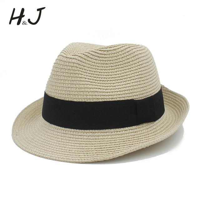 Moda verano Mujer hombres toquilla Sol sombrero para reina elegante Homburg  Sombrero de Panamá gentleman dad 27a7d6e8d50