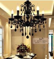 Мини-бар  черная люстра  железная кухонная люстра  освещение для дома  led lustre cristal droplight 110-240 в  светодиодные люстры  внутреннее освещение