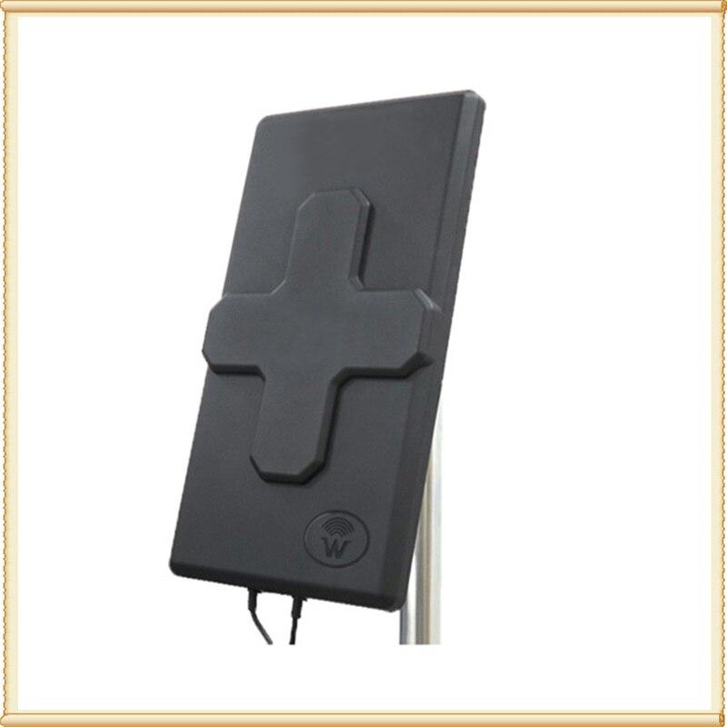 Antenne 4G LTE MIMOoutdoor 2 * 24dBi LTE double panneau de polarisation antenne double connecteur SMA-mâle (blanc ou noir) câble 10 M