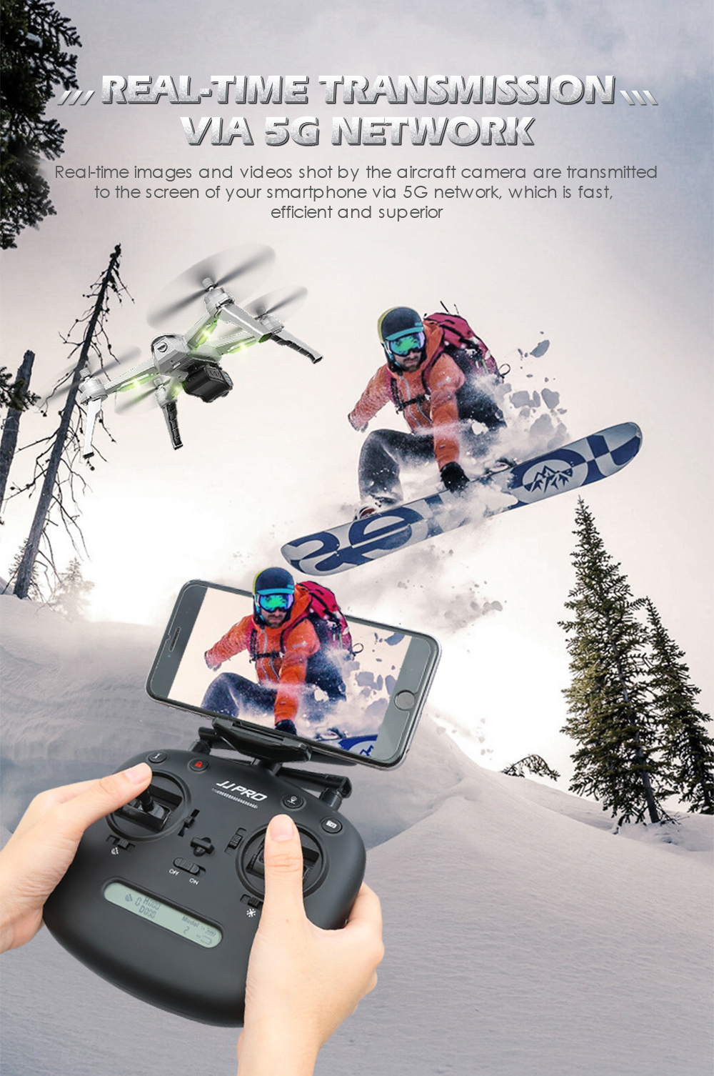 JJRC JJPRO X5 Professional Drone with Camera 1080P Brushless Motor High Hold Quadcopter Auto Follow GPS Positioning Fly  Mins 17