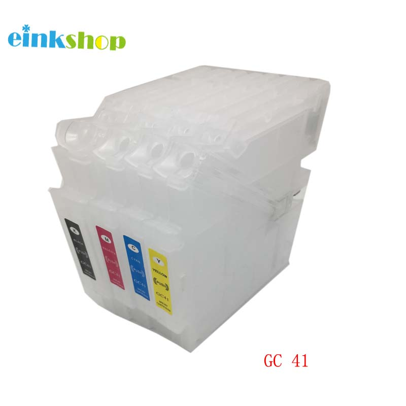 1 set empty refillable ink cartridge for Ricoh GC41 with Chip