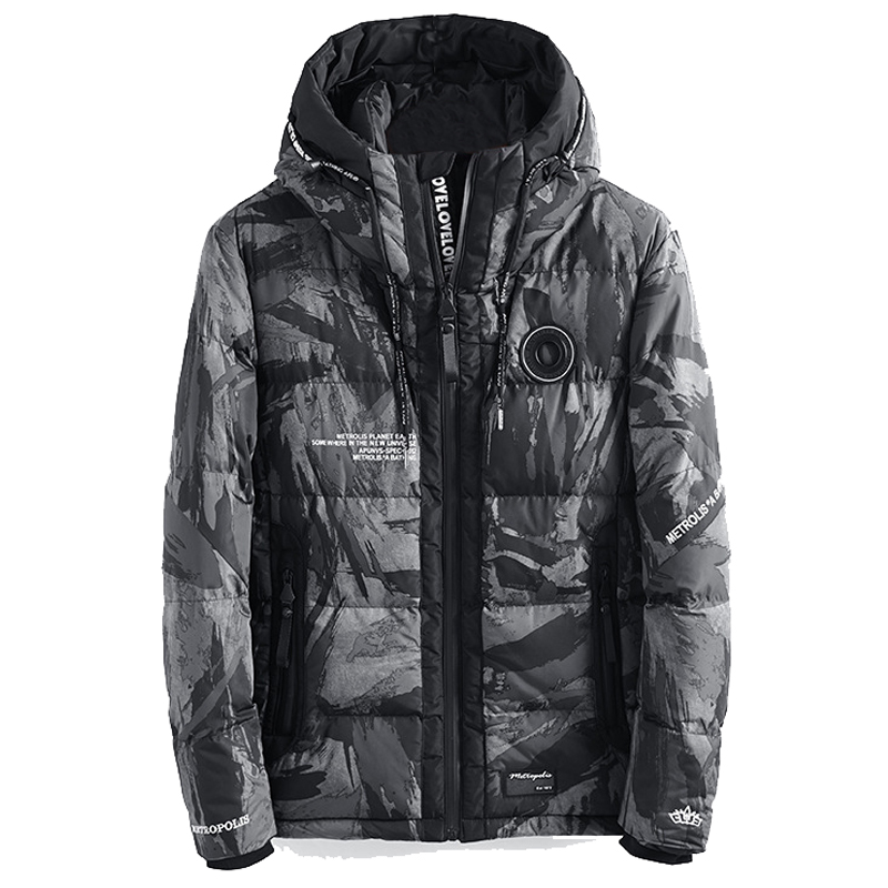 Drop Shipping Military Camo Thick Warm Winter Jacket Men Parka Hooded Windproof Outerwear Winter Coat AXP149