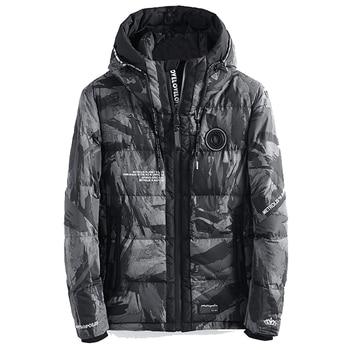 Drop shipping Military Camo Thick Warm Winter Jacket Men Parka Hooded Windproof Outerwear Winter Coat AXP149 men camo print hooded jacket