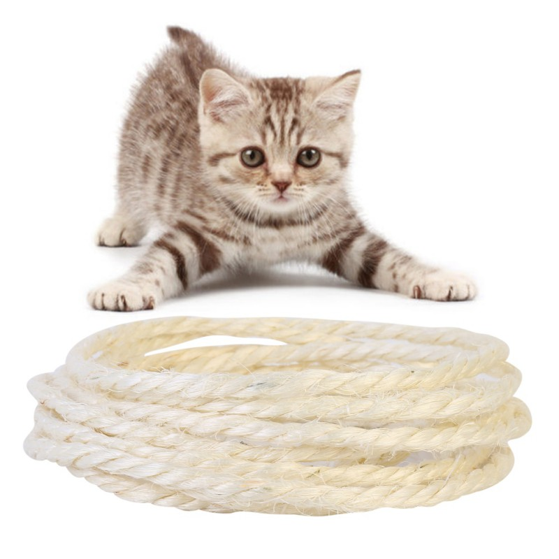 5/3m Sisal Rope For Cats Scratching Post Toys Making Diy Desk Foot Stool Chair Legs Binding Rope Material For Cat Sharpen Claw