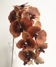6pcs Moth Orchids Phalaenopsis Orchid Big Flower Head 10 heads/Piece 4 Colors for Wedding Decorative Artificial Flowers