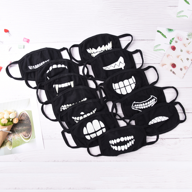 1Pc Mouth Mask Light In The Dark Anti Dust Keep Warm Cool Mask Cartoon Mouth Muffle Face Mask Emotiction Masque Kpop Masks 3