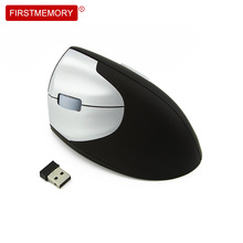 Firstmemory Wireless Left Hand Vertical Mouse Ergonomic 2.4Ghz 800-1200-1600 DPI Adjustable Left-Handed Optical Game Mice For PC