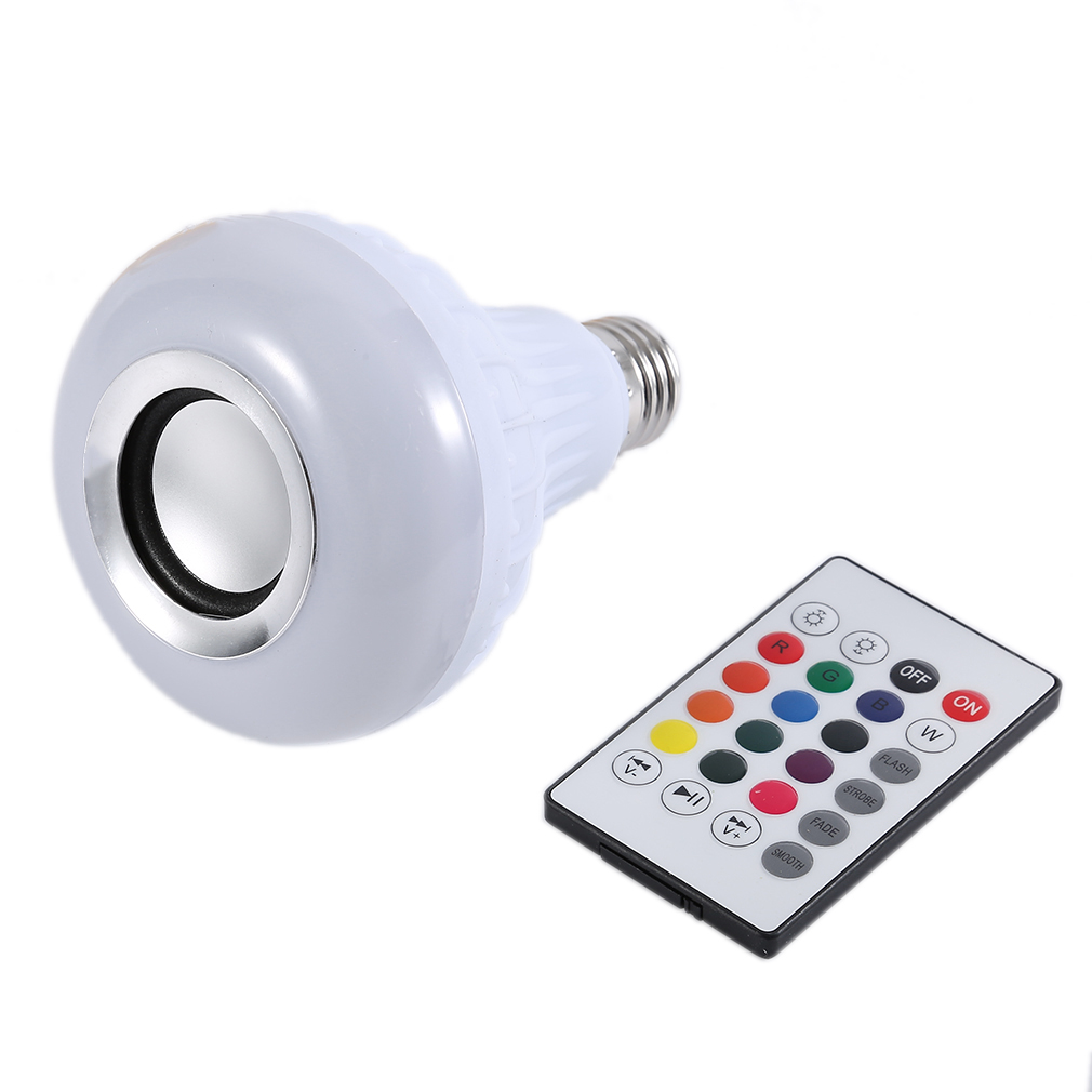 ICOCO Wireless Bluetooth Light Speaker  Control Mini RGB Smart Audio 24 LED E27 Music Bulb Colorful music Playing & Lighting New icoco e27 smart bluetooth led light multicolor dimmer bulb lamp for ios for android system remote control anti interference hot