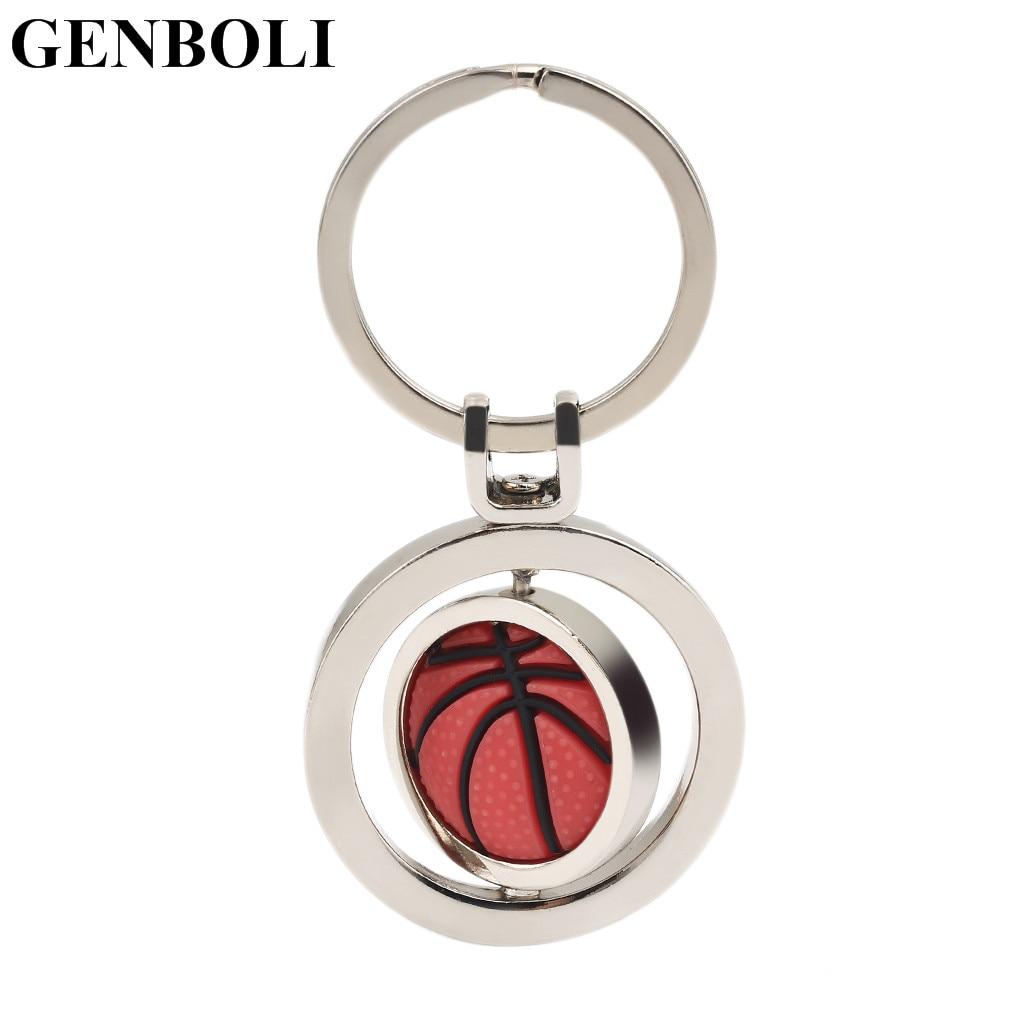 Personality Sports Rotating Basketball Keychain Small Halloween Christmas Great Gifts Pendants Car Bag Key Rings Hot!