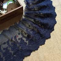 Broderie Bleu tissu en dentelle Garniture 19 cm ruban dentelle Ruban bricolage accessoires de couture Garnitures Guipure pièces artisanales dentelle L63
