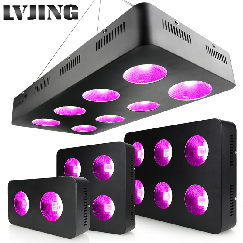 600 Вт/1200 Вт/1800 Вт/2400 Вт Светодиодный светильник для выращивания полный спектр COB чипы для комнатных медицинских растений растут и цветут раст
