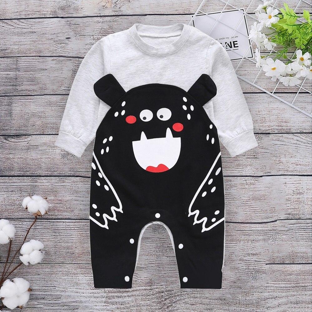 Одежда для новорожденных; хлопок; длинный рукав; сезон весна-осень; детские комбинезоны; мягкая одежда для младенцев; Комбинезоны для маленьких мальчиков и девочек - Цвет: gray