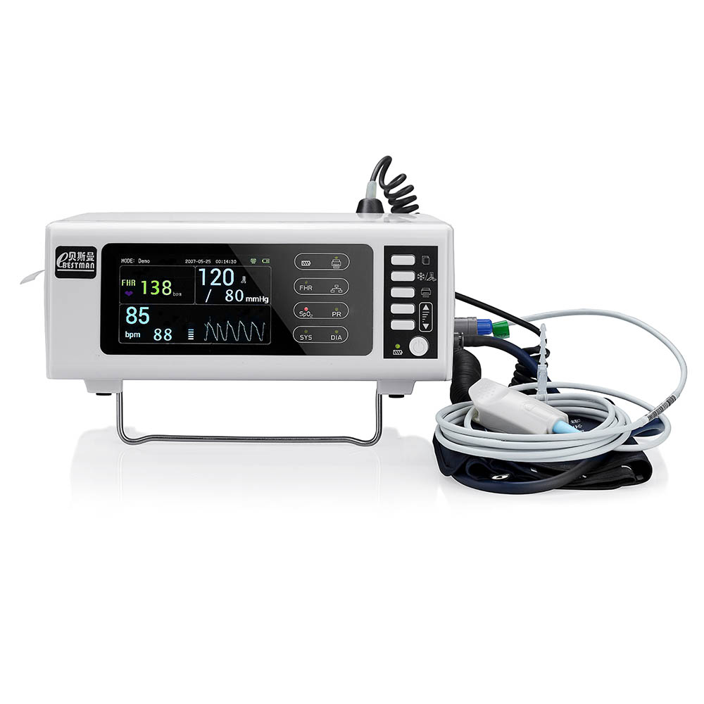 Portable obstetric monitor detect fetal heart rate pregnant blood pressure and pulse oximeter with thermal printer color LCD vending ultrasonic height and weight bmi fat blood pressure machine with coiner and printer kn 15a with high clear lcd