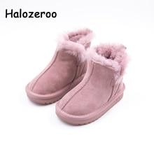 Großhandel 2018 Neue Winter Echtes Leder Babyschuhe Stiefel