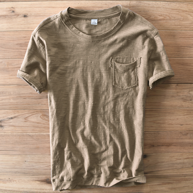 Italy Brand Suehaiwe's Summer Men T-Shirt Casual Cotton Short-Sleeved O-Neck Coffee Color T Shirt Men Fashion Clothing Camisa