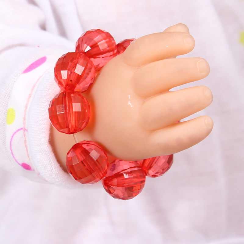 2017 New Doll Accessories Red Crystal Beads Bracelet Fit For Americal Girls 43cm Doll Baby Born