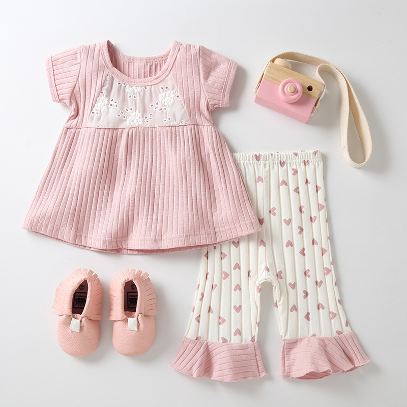 957101586cd4 ... T-Shirt Pants B014 Children `s Summer Clothes Toddler Girl Outfits Dress  with Shorts Set. Package Include  1 Set of Baby Dress with Pants. Size  Chart