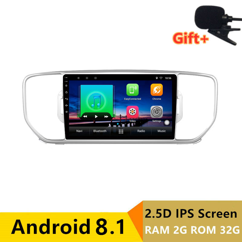 "9"" 2+32G 2.5D IPS Android 8.1 Car DVD Multimedia Player GPS for KIA rio KX5 2016 2017 2018 audio car radio stereo navigation"