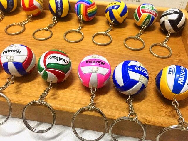 Deporte playa voleibol PVC llavero Fútbol Playa llavero regalos de cumpleaños