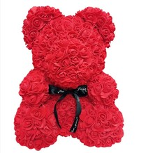 New 40cm Artificial Flowers Rose Bear Multicolor Foam Teddy  Girlfriend Valentines Day Gift Party Decoration