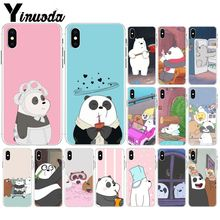 Yinuoda We Bare bears Pattern TPU Soft Phone Accessories Cell Case for iPhone 8 7 6 6S Plus 5 5S SE XR X XS MAX