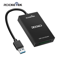 Rocketek USB 3.0/2.0 Xqd Pembaca Kartu Memori Kecepatan Transfer Tinggi Sony M/G Series untuk Windows/ mac OS Komputer