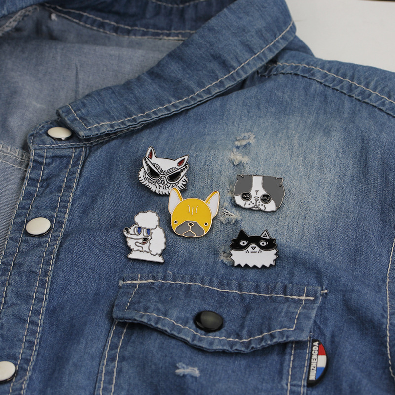 Adaptable 1 Pcs Cartoon Colorful Animal Metal Badge Brooch Button Pins Denim Jacket Pin Jewelry Decoration Badge For Clothes Lapel Pins Apparel Sewing & Fabric Home & Garden