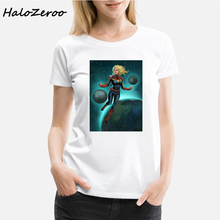 Avengers Ghost Rider Falcon Thor Black Widow District Made Ladies Perfect Weight Printed Women T Shirt Vogue Aesthetic Clothes