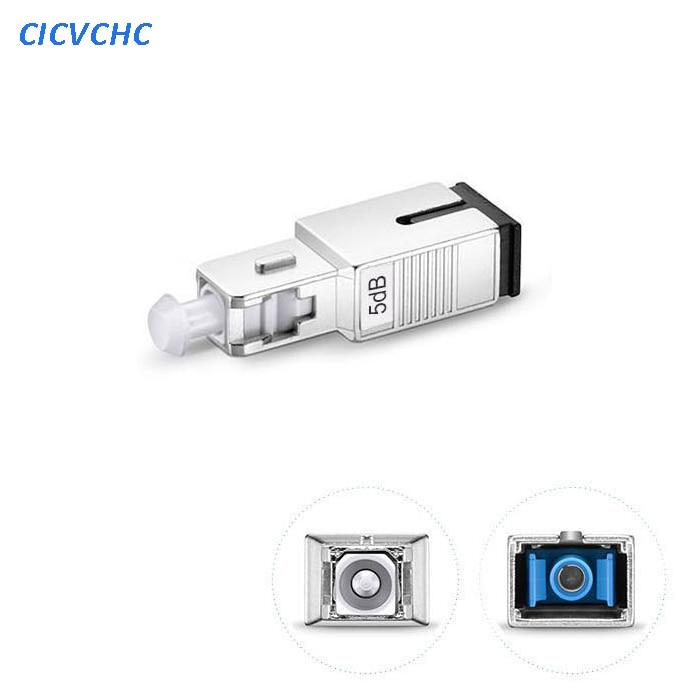 5pcs 5dB SC/UPC Singlemode Fixed Fiber Optic Attenuator, Male-Female