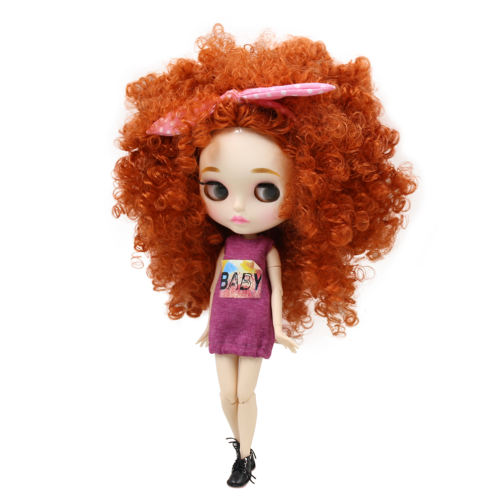 Blyth nude doll 30cm white skin Cute explosion head 1 6 JOINT body new matte face
