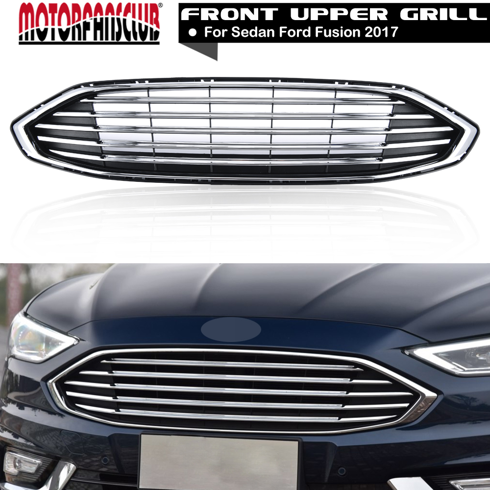 Auto accessories abs grille front bumper radiator hood racing grills for ford fusion 2017 car