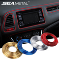 5M Car Interior Moulding Strips Decoration Line Door Dashboard Air Vent Steering-wheel Flexible In Car-styling Auto Accessories