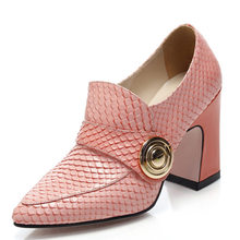 100% sheepskin leather office career genuine leather women pumps strange style high heels work shoes lady cow muscle soles pumps