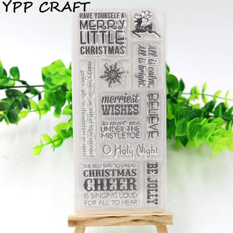 YPP CRAFT Christmas Transparent Clear Silicone Stamp/Seal for DIY scrapbooking/photo album Decorative clear stamp sheets