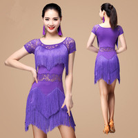 Performance Clothing Tassel Skirt Square Latin Dance Clothing Female Adult New Dance Performance Dress