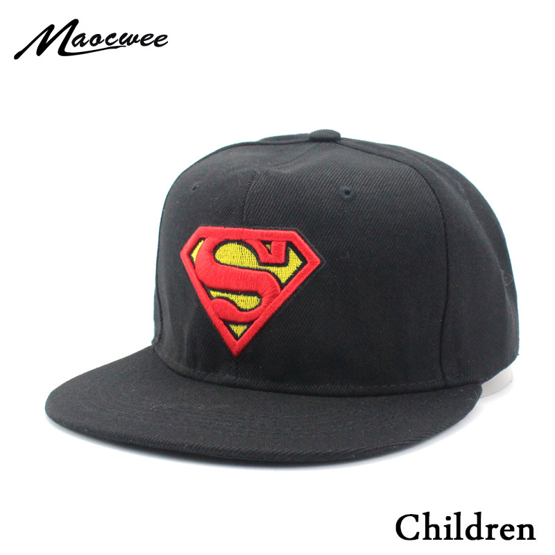 Sombreros de los niños Superman gorra de béisbol Pokemon bebé sombrero Moda  hombre de hierro Batman Spider Man Snapback niños Hip hop niños sombrero en  ... df95f0ea35e