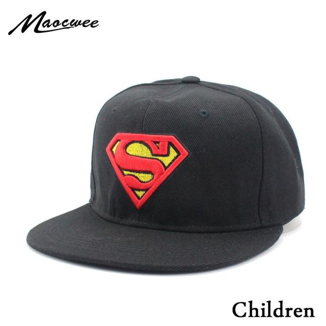 Sombreros de los niños Superman gorra de béisbol Pokemon bebé sombrero Moda  hombre de hierro Batman 42795a3bd6b