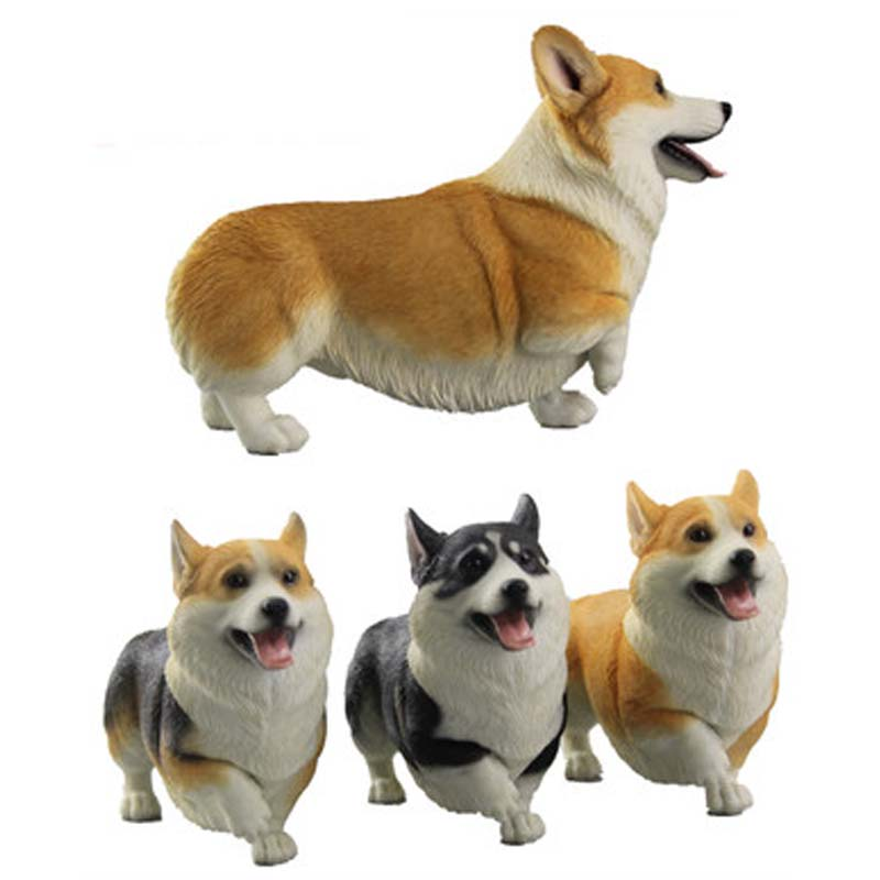 Mnotht 1/6 Wandering Corgi Model Toys 16.5X5X10.5 cm Pet Model For 12in Action Figure Toys l30 Collection Model Hobbies damtoys 1 6 gangsters kingdom side story neil gks004 for 12 action figure collection toys gifts in stock