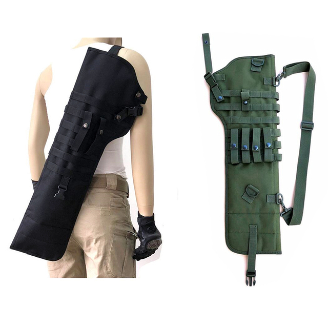US $7 21 5% OFF Outdoor Tactical AK Rifle Scabbard Molle Shoulder Bag  72X25X3CM Shoulder Sling Portable Padded Shotgun Holster Pouches  Backpack-in