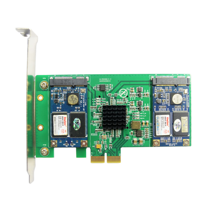 ФОТО Free Shipping PCIe2.0 to 4Port mSATA SSD Hardware RAID Card Host Adapter NCQ 6Gbps Raid 0 1 10