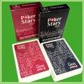 2 Компл./лот Техасский Холдем Пластиковые пвх набор игральных карт игры покер карты Водонепроницаемый скучный польский покер звезда Настольные игры в покер наборы