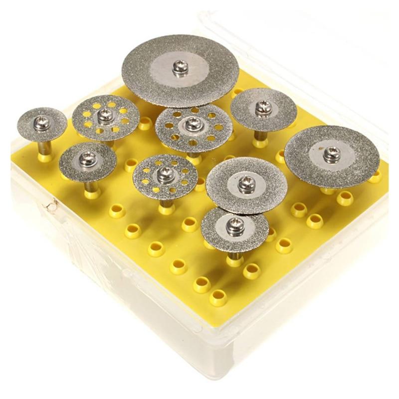 10 Pieces Diamond Cutting Discs Cutting Wheel Set For Dremel