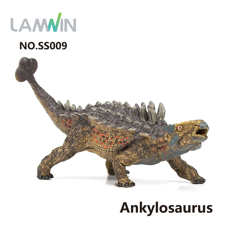 Lamwin Plastic Simulation Wild Animal Model Ankylosaurus Jurassic Collection Toys Action Figure Dinossauro lamwin 6pcs lot large dinosaur toy collection set jurassic world park hollow model figure free gift dinossauro egg