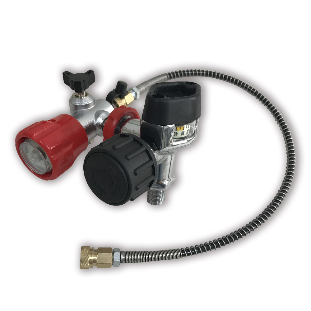 AC201 HPA Valve Used for Carbon Fiber Paintball PCP Cylinder Tank M18 1 5 4500PSI for Airgun Fill Station with Hose Acecare in Paintball Accessories from Sports Entertainment