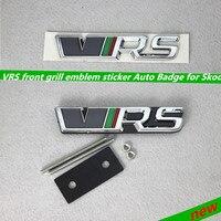 VRS RS Front Grill Emblem Sticker Auto Badge For Skoda Fabia Octavia MK2 Rapid Spaceback Superb