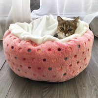 Colorful Dot Pattern Pet Dog Cat Sleeping Bags Lovely Winter Cozy Super Warm Puppy Kitten Dog Sofa Beds Cushion Rabbit/Cats Mats